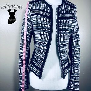 H&M Black and White patterned Blazer Jacket